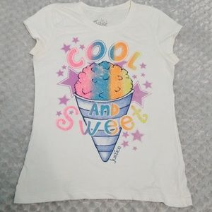 """Justice """"Cool and sweet"""" short sleeve shirt"""